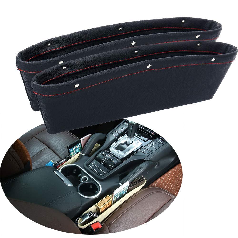 2018 2 Pack Car Pocket Organizer Seat Gap Filler Car Seat Side Drop Caddy Catcher Accessories