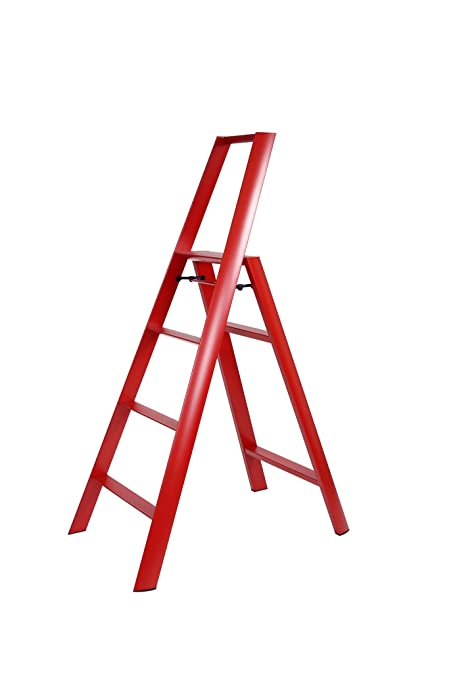amazon com hasegawa ladders lucano step ladder red kitchen dining