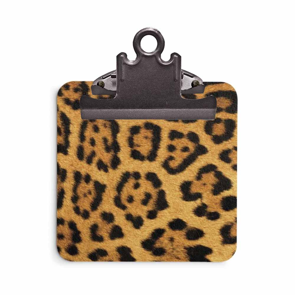 Sticky Note Clipboard - Stationery Business Office School Supplies - Gift Idea (Leopard Print)