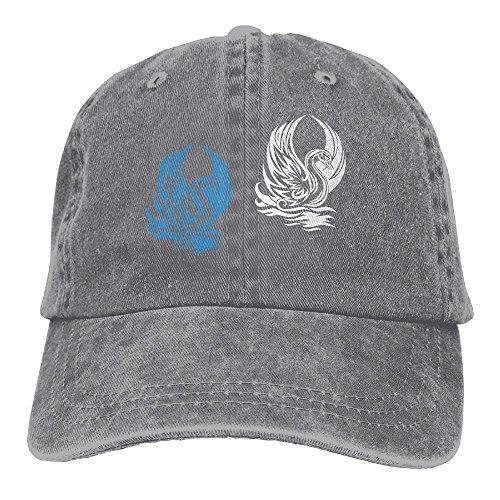 [Men's Or Women's Beautiful Swan Swimming On Water Denim Jeanet Baseball Hat Adjustable Street Rapper Hat] (7 Swans A Swimming Costume)
