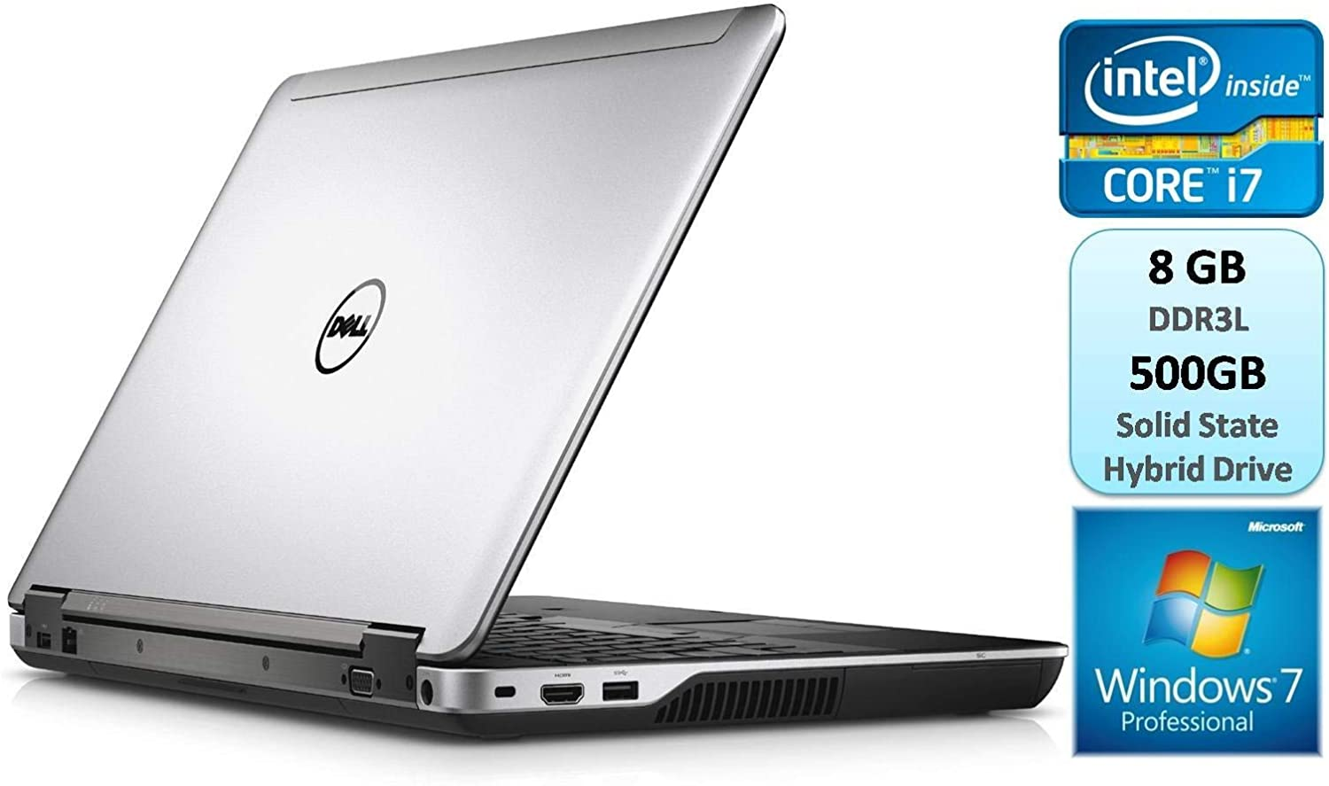 Dell Latitude E6540 Business Laptop 15.6 Inch Intel Core i7 i7-4610M 3.0 GHz 8GB DDR3L 500GB Solid State Hybrid Drive SSHD Webcam DVDRW Windows 7 Pro