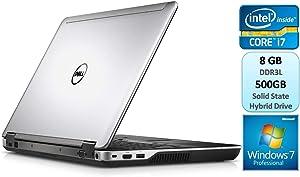 Dell Latitude E6540 Business Laptop 15.6 Inch Intel Core i7 i7-4610M 3.0 GHz 8GB DDR3L 500GB Solid State Hybrid Drive SSHD Webcam DVDRW Windows 7 Pro
