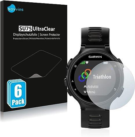 savvies Protector Pantalla Compatible con Garmin Forerunner 735XT (6 Unidades) Pelicula Ultra Transparente: Amazon.es: Electrónica