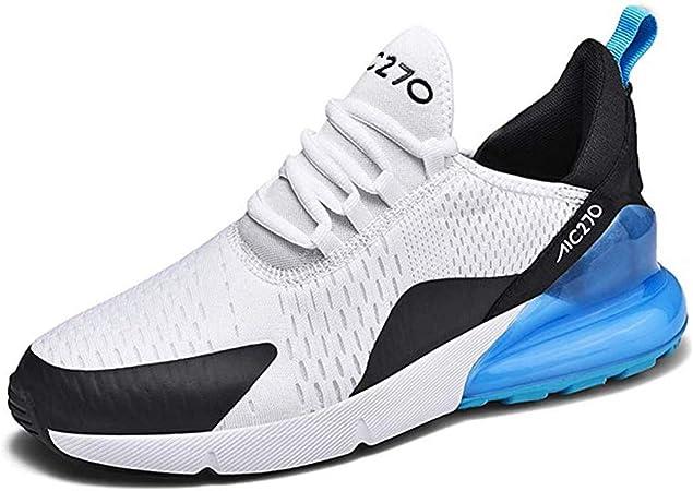 FJJLOVE Las Zapatillas para Hombre, Antideslizante Resistente al Desgaste Calzado Deportivo Transpirable a pie Desodorante Plantillas Zapatos al Aire Libre,Azul,39: Amazon.es: Hogar