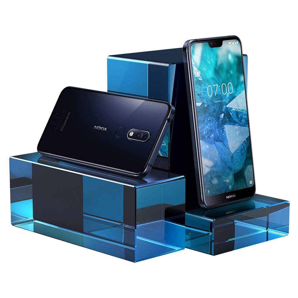 Nokia 7.1 - Android 9.0 Pie - 64 GB - 12+5 MP Dual Camera - Dual SIM Unlocked Smartphone (at&T/T-Mobile/MetroPCS/Cricket/H2O) - 5.84'' FHD+ HDR Screen - Blue - U.S. Warranty by Nokia (Image #5)