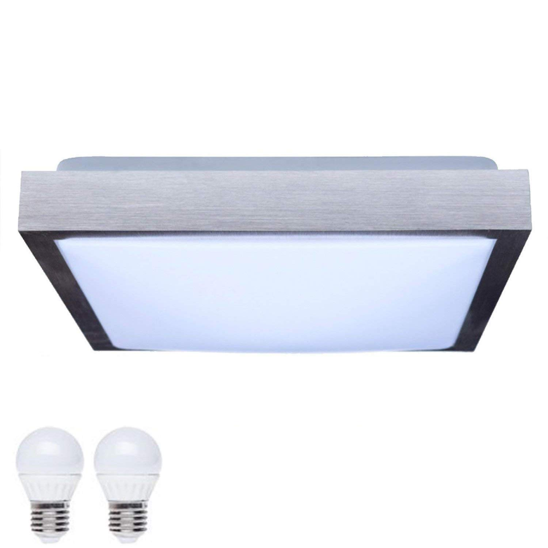 Savony –  XL IP20 (Pack of 2 LED Bulb E27 2 x 6 W –  (1040LM) –  Ceiling Light for LED & Els (Square) JVS-Handel