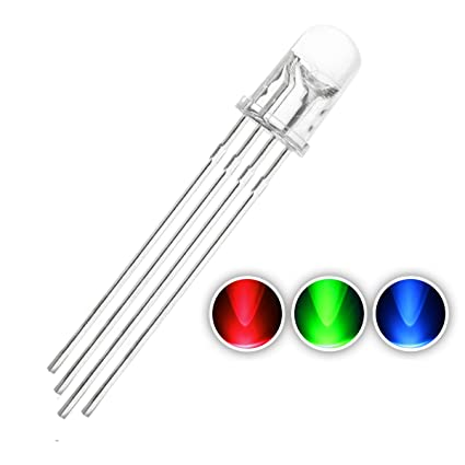 Diodes Active Components 100pcs 5mm 4pins Rgb Led Common Anode Tri-color Emitting Diodes Diffused