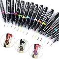 Smosee 16 Colors Set Nail Art Pen for 3D Nail Art DIY Decoration Nail Polish Pen