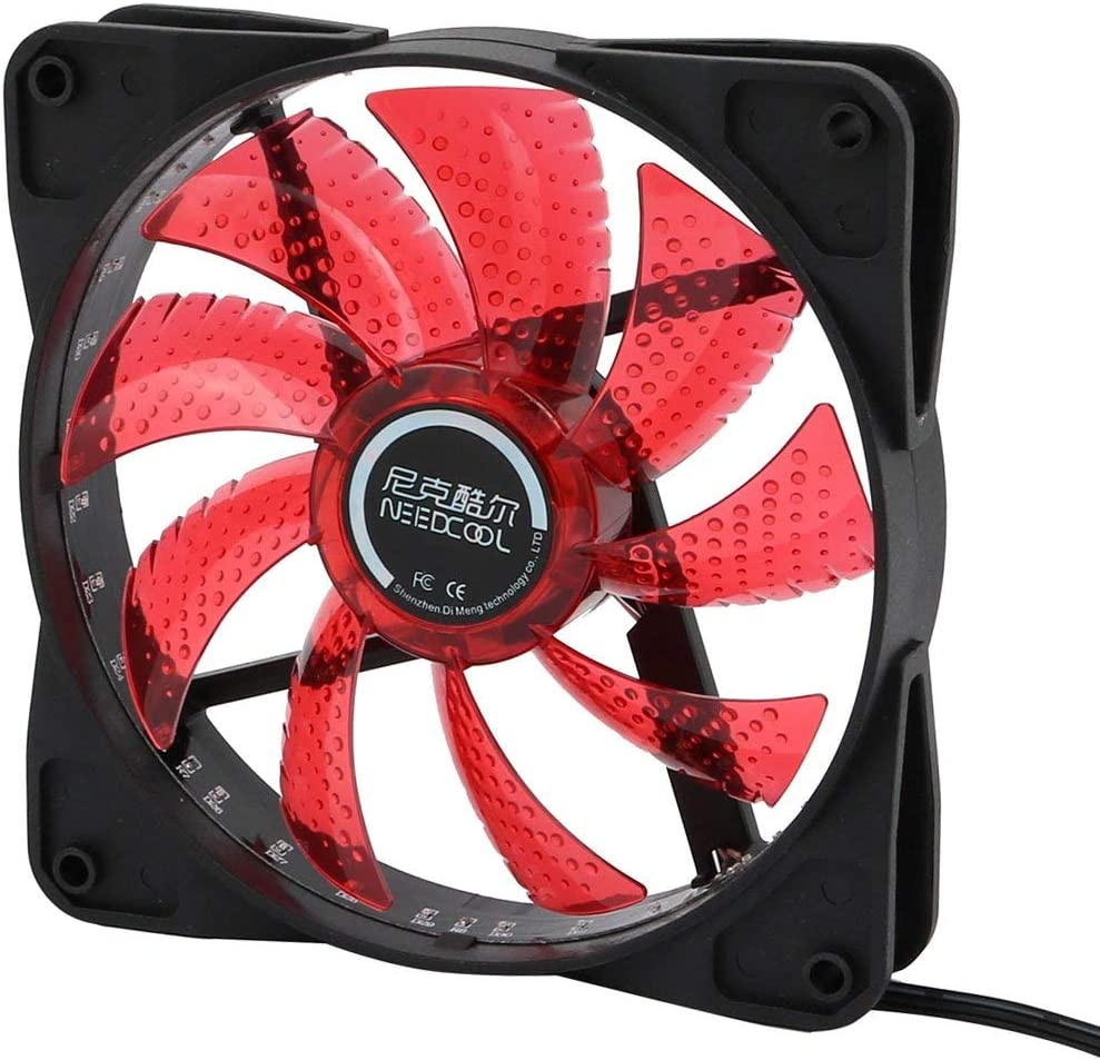 NA DC12V 0.26A 12 cm 4P Red 32 LED Lights 9 Blades PC Cooling Fan CPU Covers Cooler Radiator