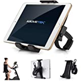 """AboveTEK Cycling Bike iPad/iPhone Holder Tablet Mount for Gym Handlebar, Portable 360° Swivel Stand for 3.5-12"""" Tablets/Cell Phones"""