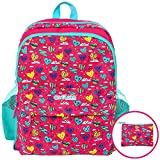 GirlZone BACKPACK FOR GIRLS: Fun & Funky Rucksack School Bag for kids. Great Birthday Present /Gift Idea For Girls.