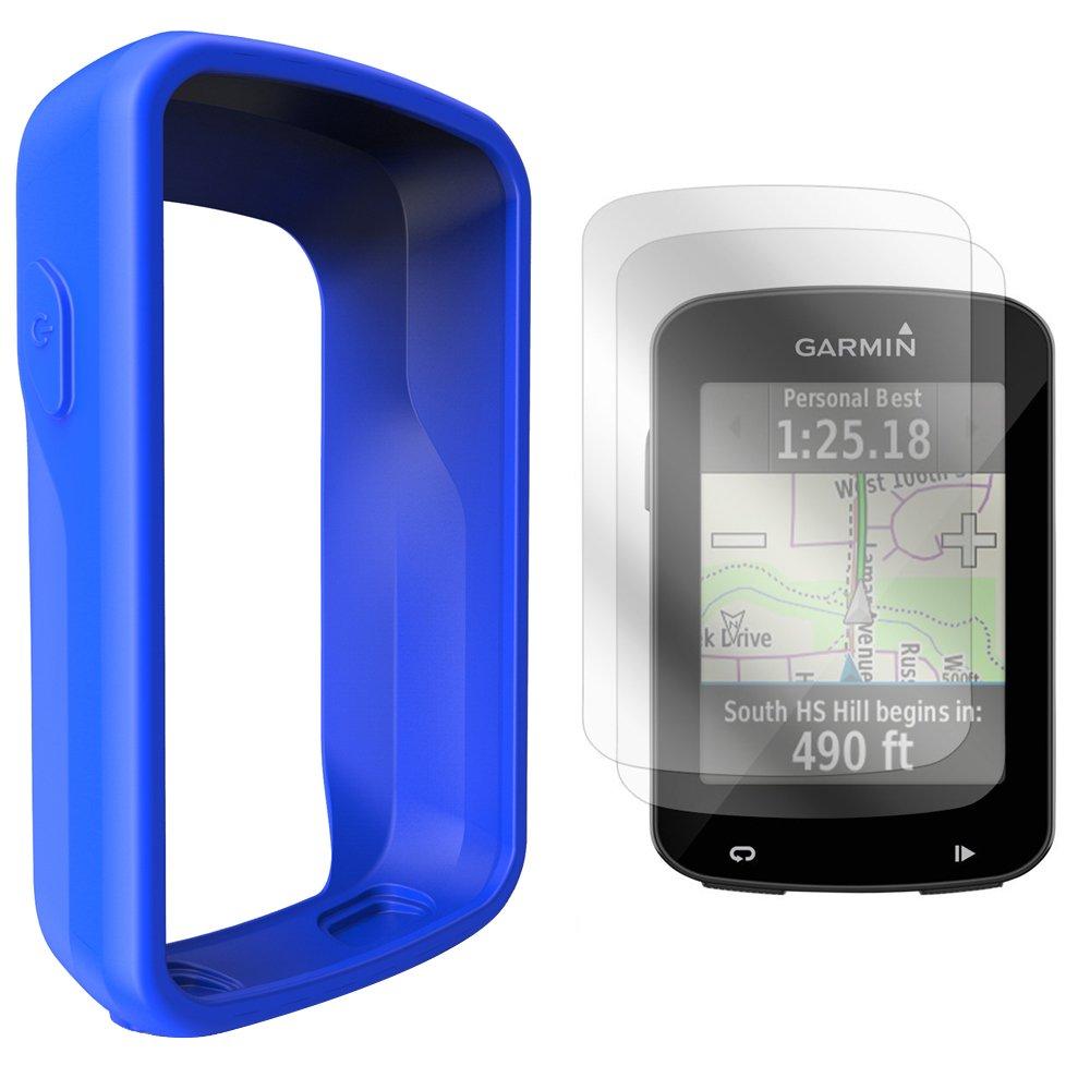 TUSITA Housse en Silicone + Protecteur d'écran pour Garmin Edge 820/Edge 820 Explore la Couverture Coque de l'ordinateur GPS Bike (Rose) AMCS105PINK