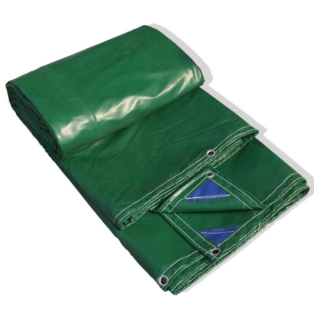防水、防水グリーンキャンバスポリエチレン、厚さ0.4mm、マルチサイズオプション(4.8mx5.75m) (色 : Green, サイズ さいず : 3.8mx4.8m) 3.8mx4.8m Green B07KCCP28B