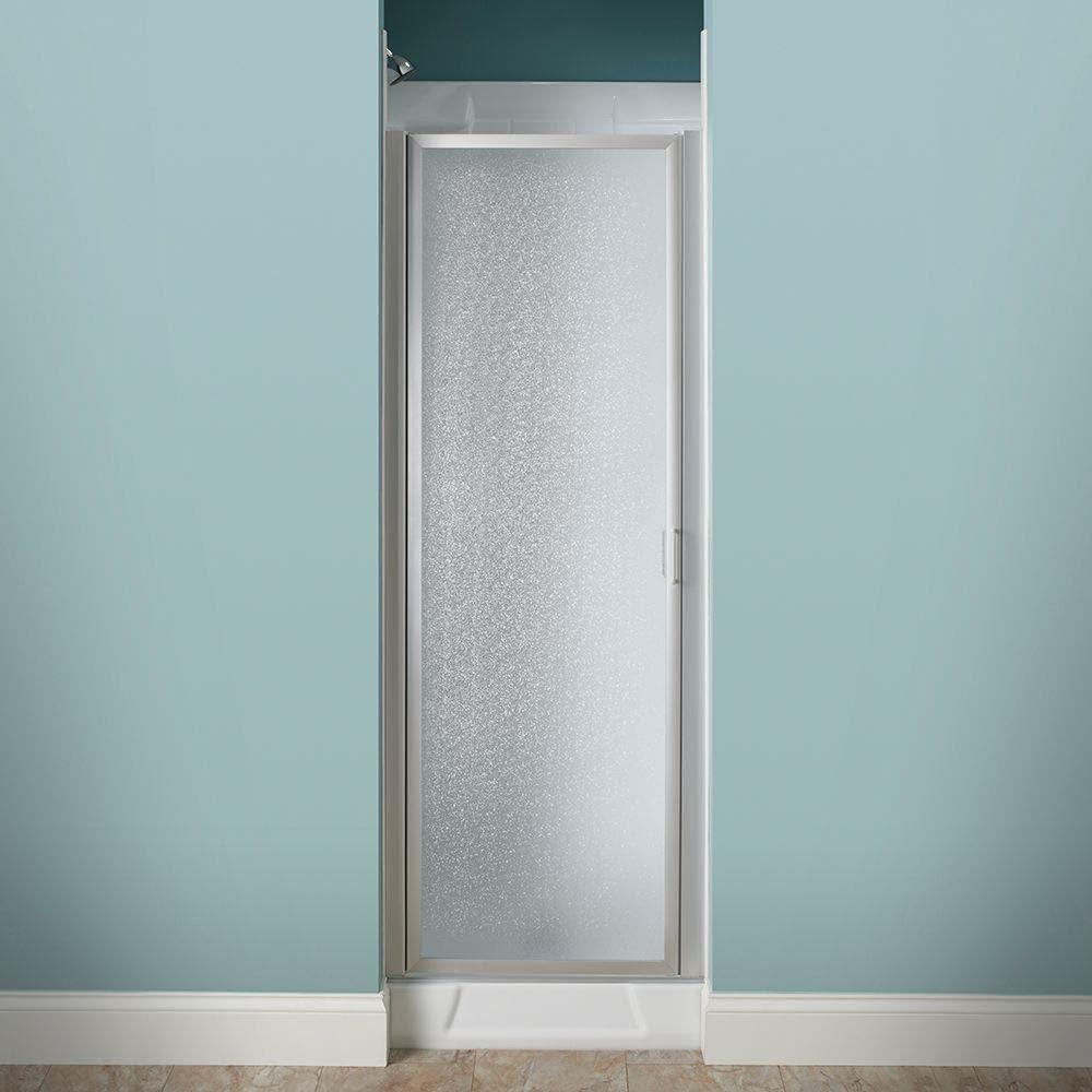 25 in. x 64 en. Con Marco Pivot para mampara de ducha de flores en ...