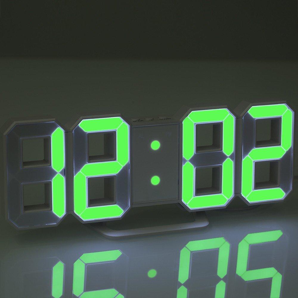 Skyllc Horloge Murale électronique 3D De Digital Clock Digital Clock 3D De  Style Chinois Moderne Dans ...