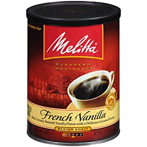 Melitta French Vanilla Flavored Medium Roast Ground Coffee, 11 Ounce