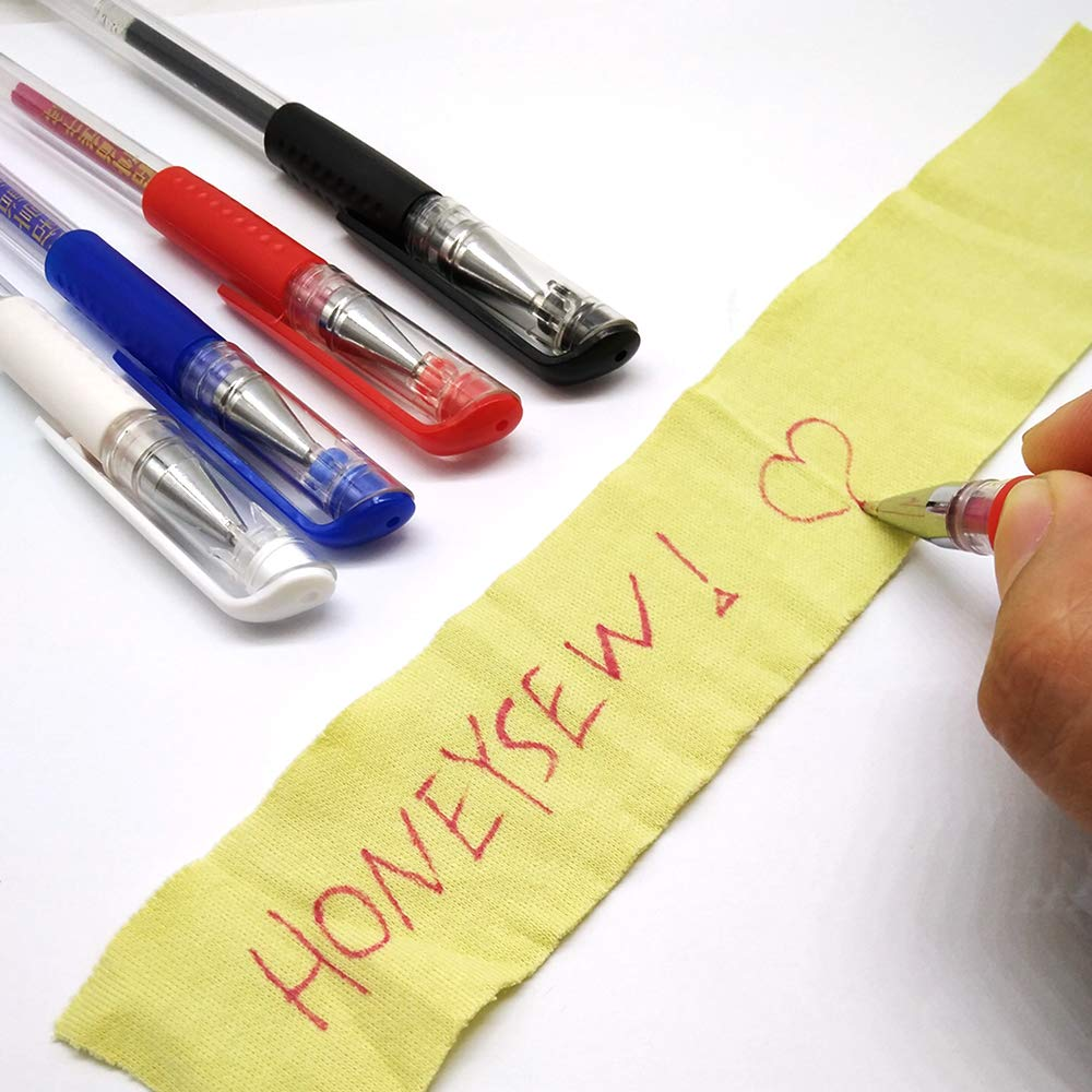 HONEYSEW 8 Heat Erasable Fabric Marking Pens with 8 Refills for Quilting,Sewing and Dressmaking 8 Piece Set