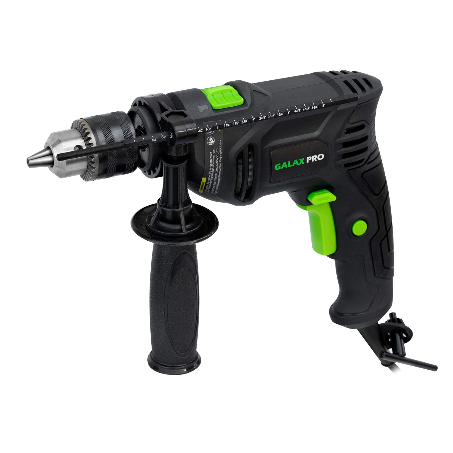 Hammer Drill, 4.5A Corded Drill GALAX PRO Impact Drill 0-3000RPM Electric Drill with 1/2'' Keyed Chuck and Depth Gauge for Drilling Wood, Steel, Masonry, Cement, Concrete_GP57325