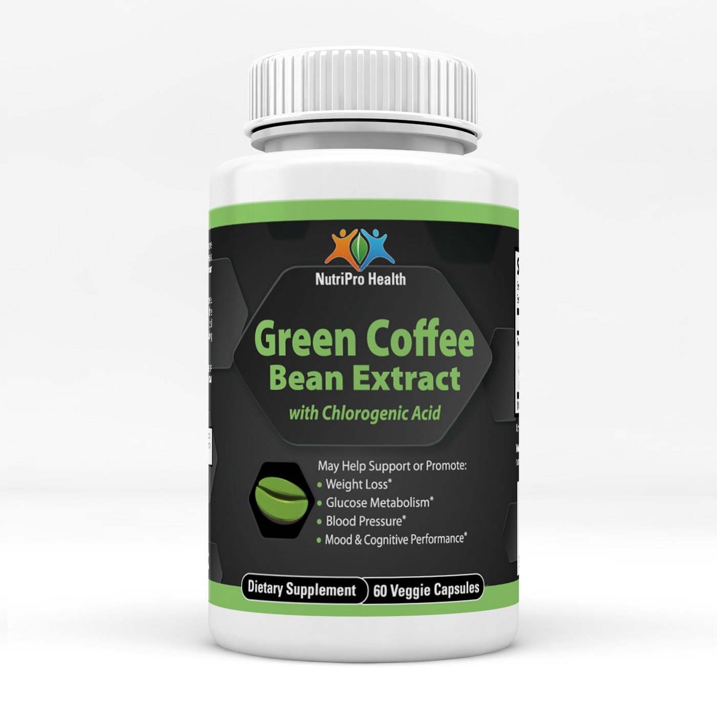 100% Green Coffee Bean Extract 800, 50% Chlorogenic Acid, Boost Energy, Suppress Appetite
