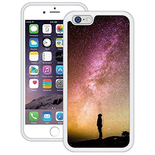 Sternenklarer Himmel | Handgefertigt | iPhone 6 6s (4,7') | Weiß Hülle