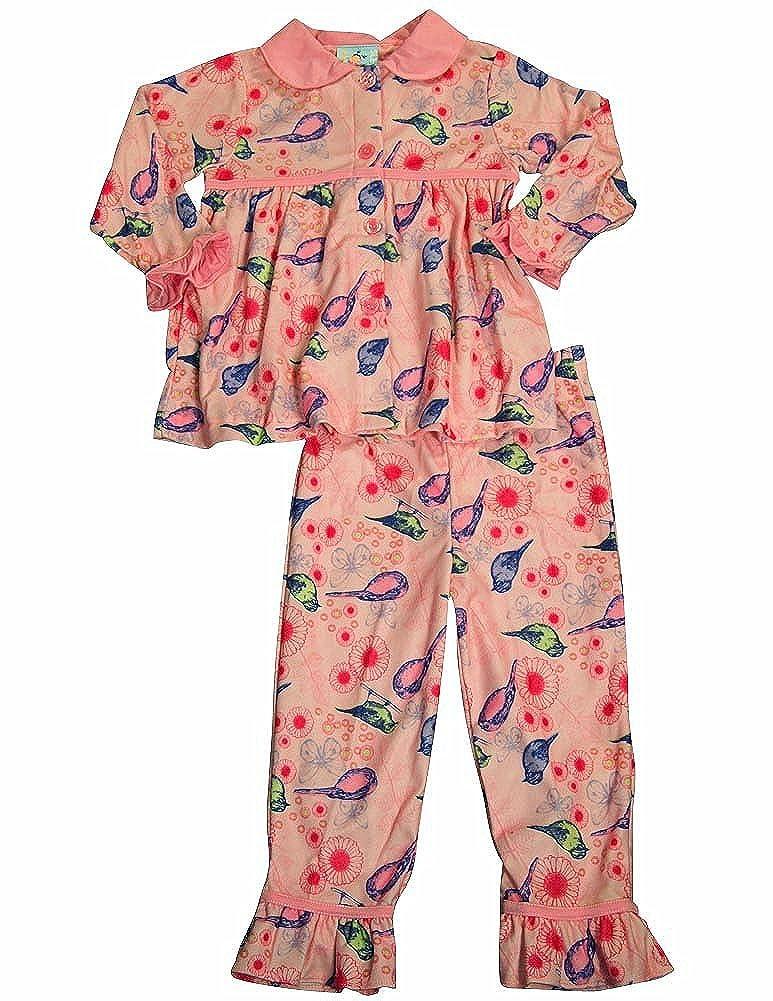 Bunz Kidz Little Girls 3 Piece Robe and Pajama Set