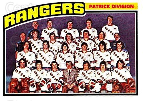 - (CI) New York Rangers, Checklist Hockey Card 1976-77 Topps (base) 143 New York Rangers, Checklist