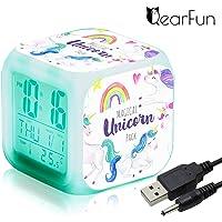 Unicornio Despertador Infantil Relojes de alarma digitales
