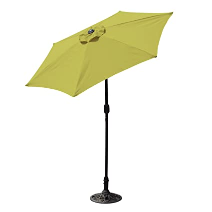 Amazon Com Budge Aluminum Patio Umbrella With Crank Lift And Tilt