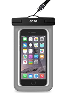 "JOTO Universal Waterproof Pouch Cellphone Dry Bag Case for iPhone 11 Pro Max XS Max XR XS X 8 7 6S Plus, Galaxy S10 Plus S10e S9 Plus S8 + Note 10+ 10 9 8, Pixel 3 XL Pixel 3 2 up to 6.8"" –Grey"