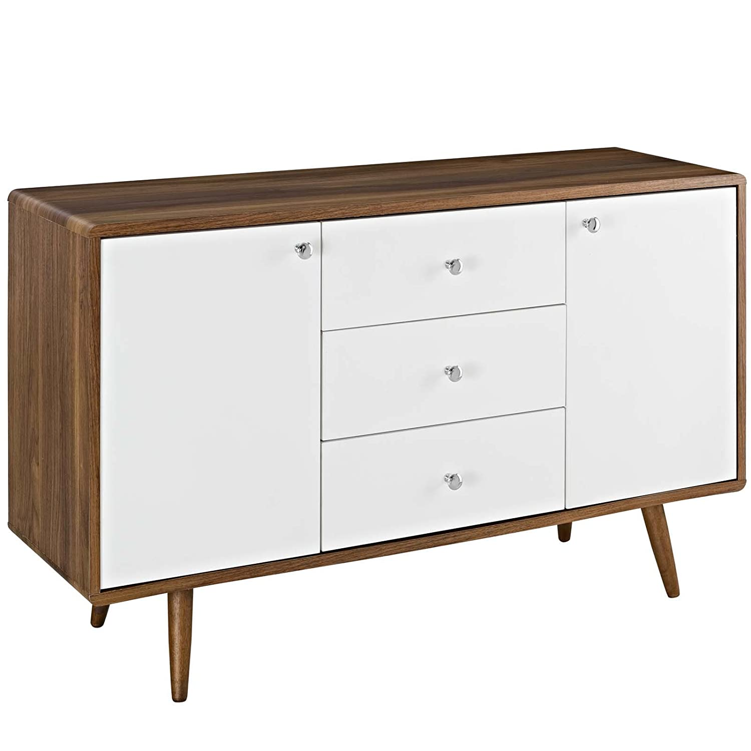 Modway EEI-2531-WAL-WHI-SET Transmit Sideboard, Walnut White