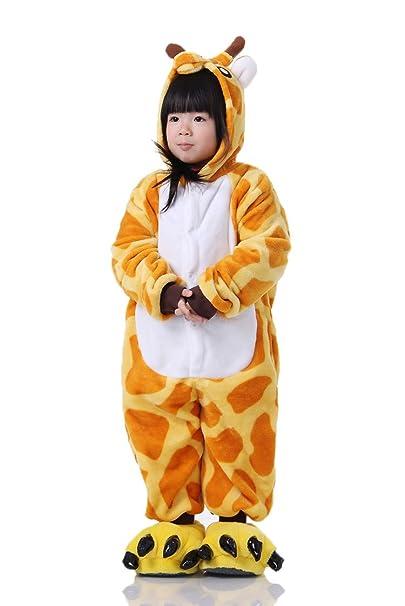 Cliont Animales de los niños de la Jirafa Onesie Pijama de la Ropa de Noche de