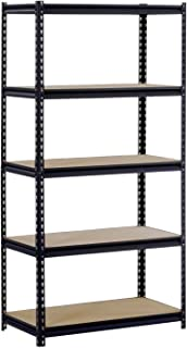 ur185pblk black steel heavy duty 5shelf shelving unit