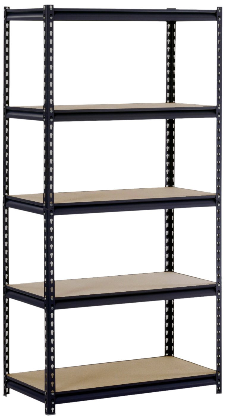 steel storage shelves sandusky edsal ur185p blk black steel heavy duty 5 shelf 26782