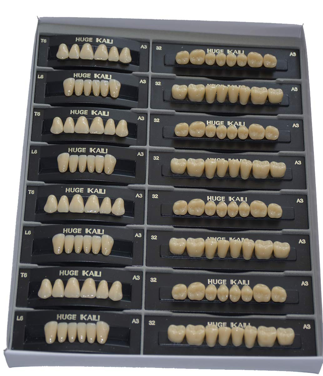 TJIRIS Full Mouth Resin Teeth False Tooth with Two Layer Color 10 Boxes by TJIRIS (Image #1)