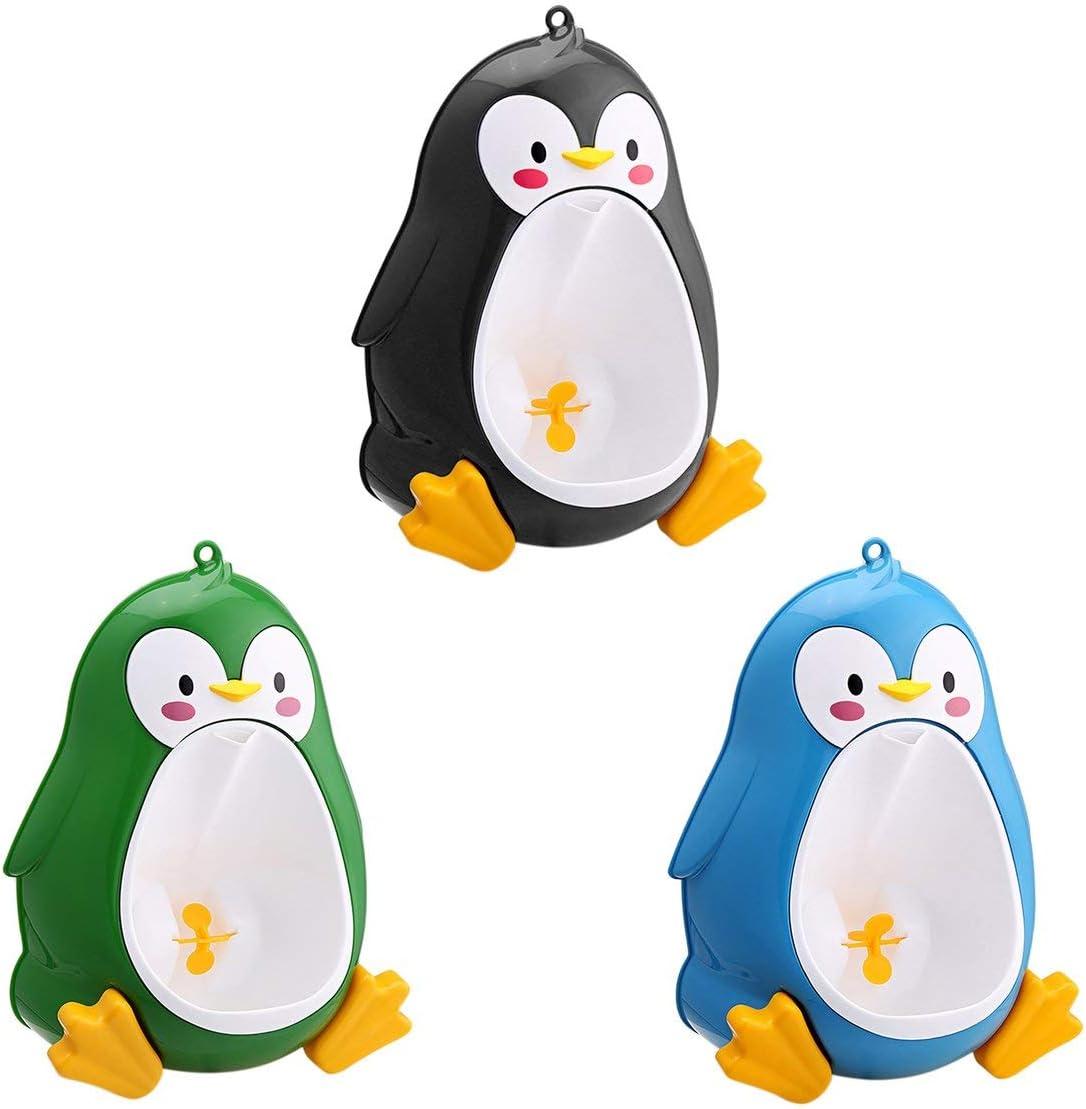 bleu Dessin Anim/é Mignon Pingouin Petit Pot Urinoir Toilette Debout Urinoir Enfants Entra/îneur Pipi Pour Gar/çons De 8 Mois /à 6 Ans