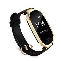 Fitness Tracker, AGPTEK Wasserdicht Fitness Armband Uhr mit mit Herzfrequenz, Schrittzähler Fitness Uhr Pulsmesser Schlafmonitor Kalorienzähler, Pulsmesser, Anruferinnerung SMS Whatsapp Beachten kompatibel mit iOS Android Handy, Schwarz