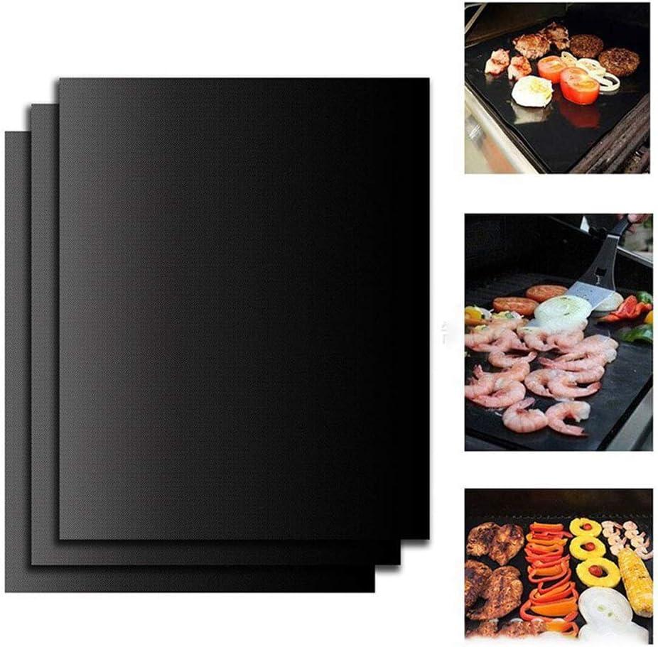 Tapis de barbecue portable en fibre de verre enduit résistant aux hautes températures Outils de cuisson portables 400 degrés Celsius Tapis de gril réutilisables 400*330*0.2mm