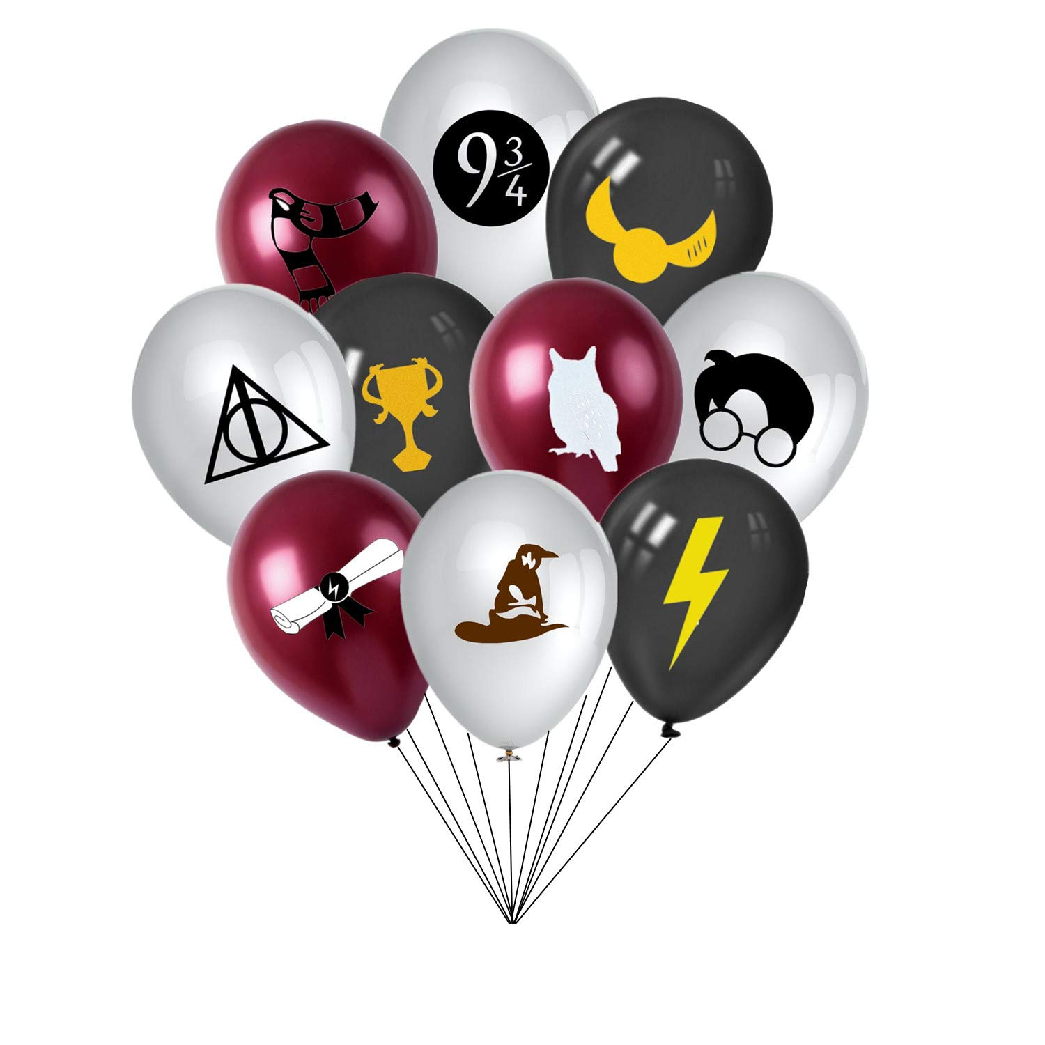 30PCS Magic Wizard School Birthday Party Balloons for Kids Potter Party Decorations Supplies