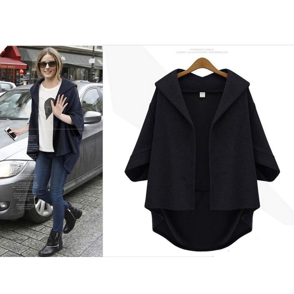 Plus Size Winter Coats for Women 3//4 Long Sleeve T-Shirt Women Solid Tops Blouse Triskye Cardigan Sweaters for Women