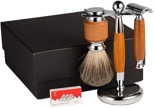 Juego de Regalo de Afeitado para Hombres, afeitadora de Seguridad ...