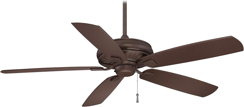 Minka-Aire F532-ORB Sunseeker 60 Inch Outdoor Ceiling Fan Pull Chain in Oil Rubbed Bronze Finish