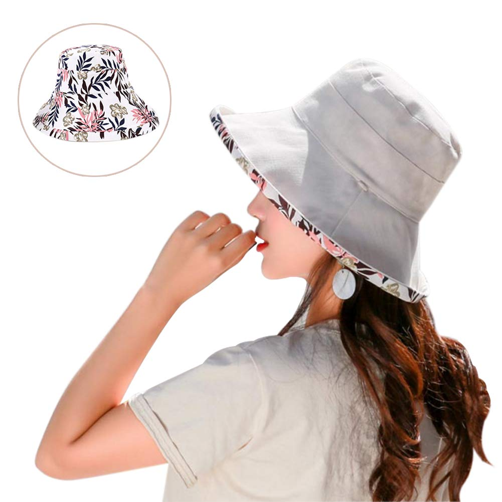 903700c36 Womens Sun Hat Packable Bucket Hat with UV Protection Beach Hat ...