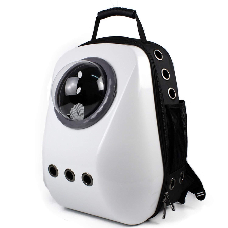 Mochilas Gatos Perros Conejo Plegable Transpirable Pet Backpack Fashion Transport/ín para Viaje Avi/ón Tren con Manija Resistente y Ventana de Malla Gris