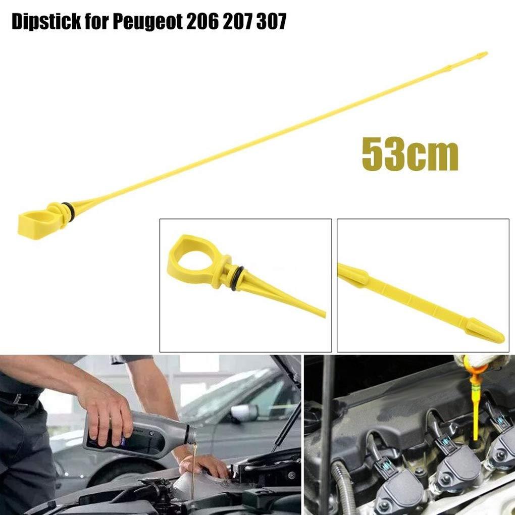 Citroen C2 C3 1174.85 Censhaorme Veh/ículo autom/óvil de Aceite del Motor Varilla de medici/ón del Nivel de Fluido de reemplazo para Peugeot 206 207 307