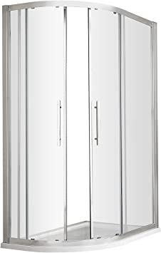 Hudson Reed M1080Q-E8 Mampara de ducha, transparente, 1000x800: Amazon.es: Bricolaje y herramientas