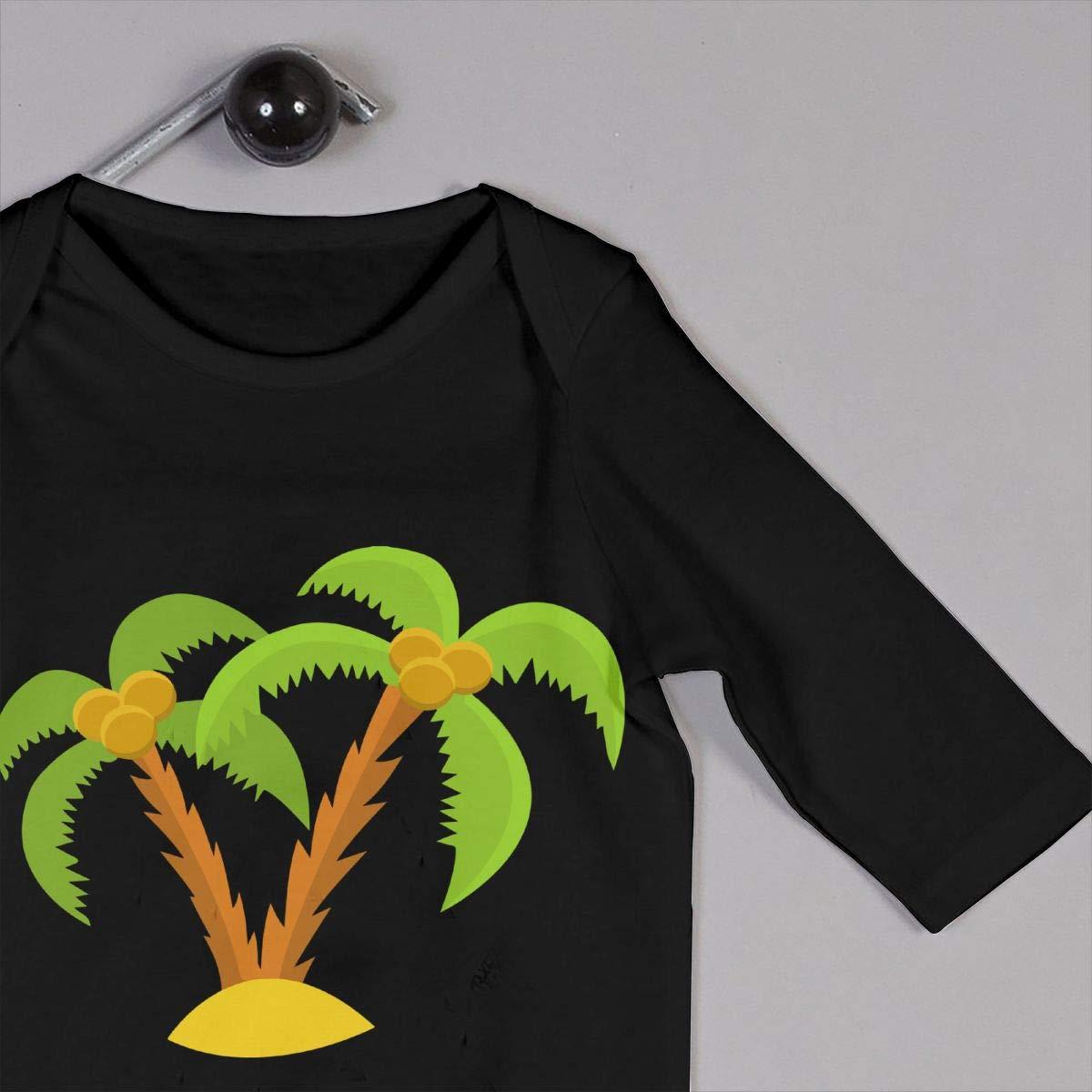 UGFGF-S3 Hawaii Palm Tree Newborn Kids Long Sleeve Romper Jumpsuit Coverall