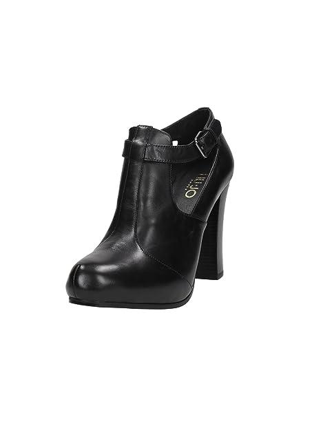 e0b26ba394d11 Tronchetto ankle boot Liu-Jo Phoebe in pelle nero tacco 105 taglia 40   Amazon.it  Scarpe e borse