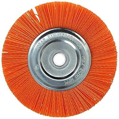 Dico 541-756-6 Nyalox Bench Brush 6-Inch Orange 120 Grit