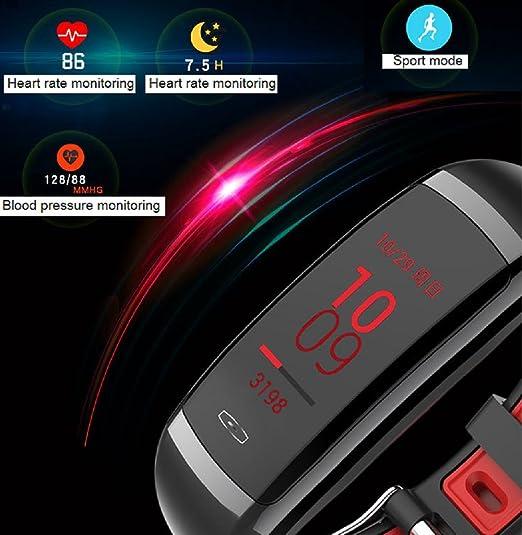 LJXAN CD09 Pulsera Inteligente Pantalla En Color Ritmo Cardíaco Monitoreo De La Presión Arterial Pulsera De Recordatorio Inteligente Resistente Al Agua ...