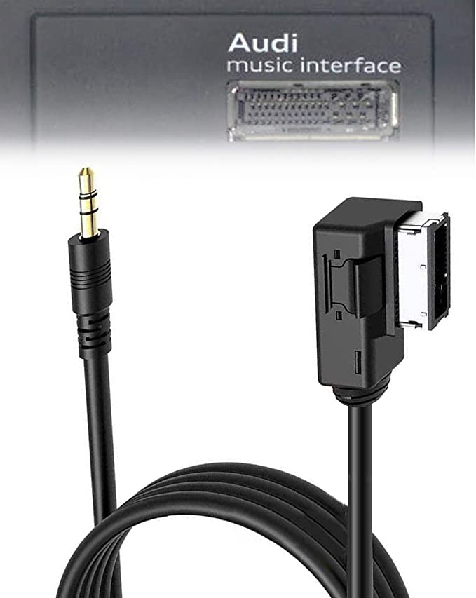 Agile-Shop AMI MDI MMI Music Cable Adapter Connect Compatible for iPhone 4 4S iPod iPad to Audi A3//A4//A5//A6//A8//S4//S6//S8//Q5//Q7//R8//TT and Volkswagen Jetta//GTI//GLI//Passat//CC//Tiguan//Touareg//EOS Cable